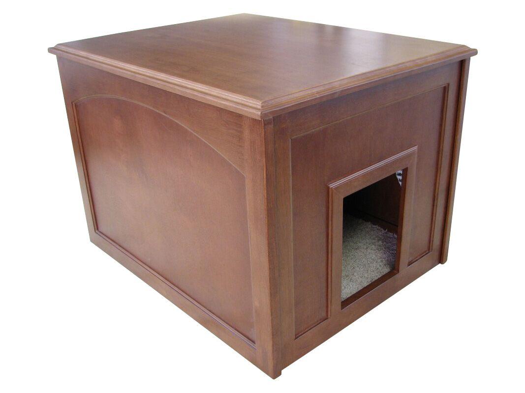 Aquarius Cat Condo & Litter Box Enclosure Finish: Mahogany