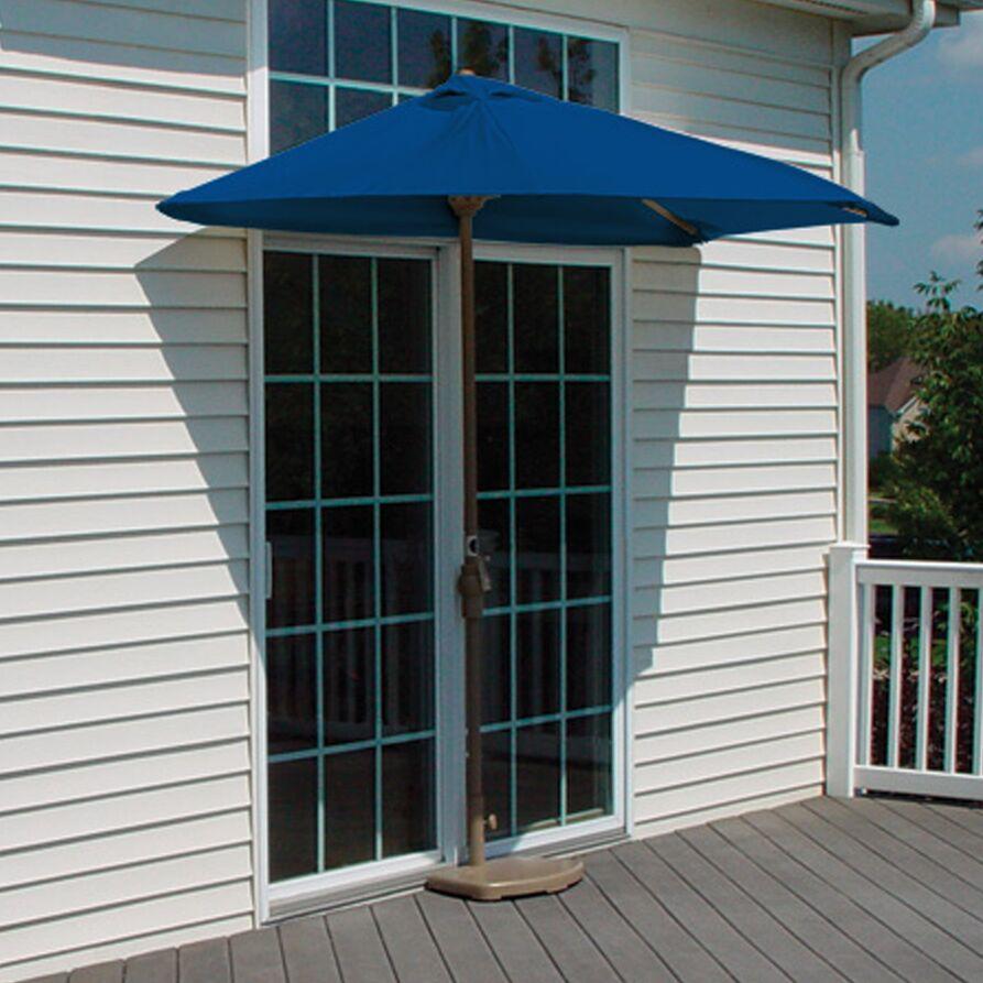 Off-The-Wall Brella 9' Half Market Umbrella Fabric: Blue - Sunbrella