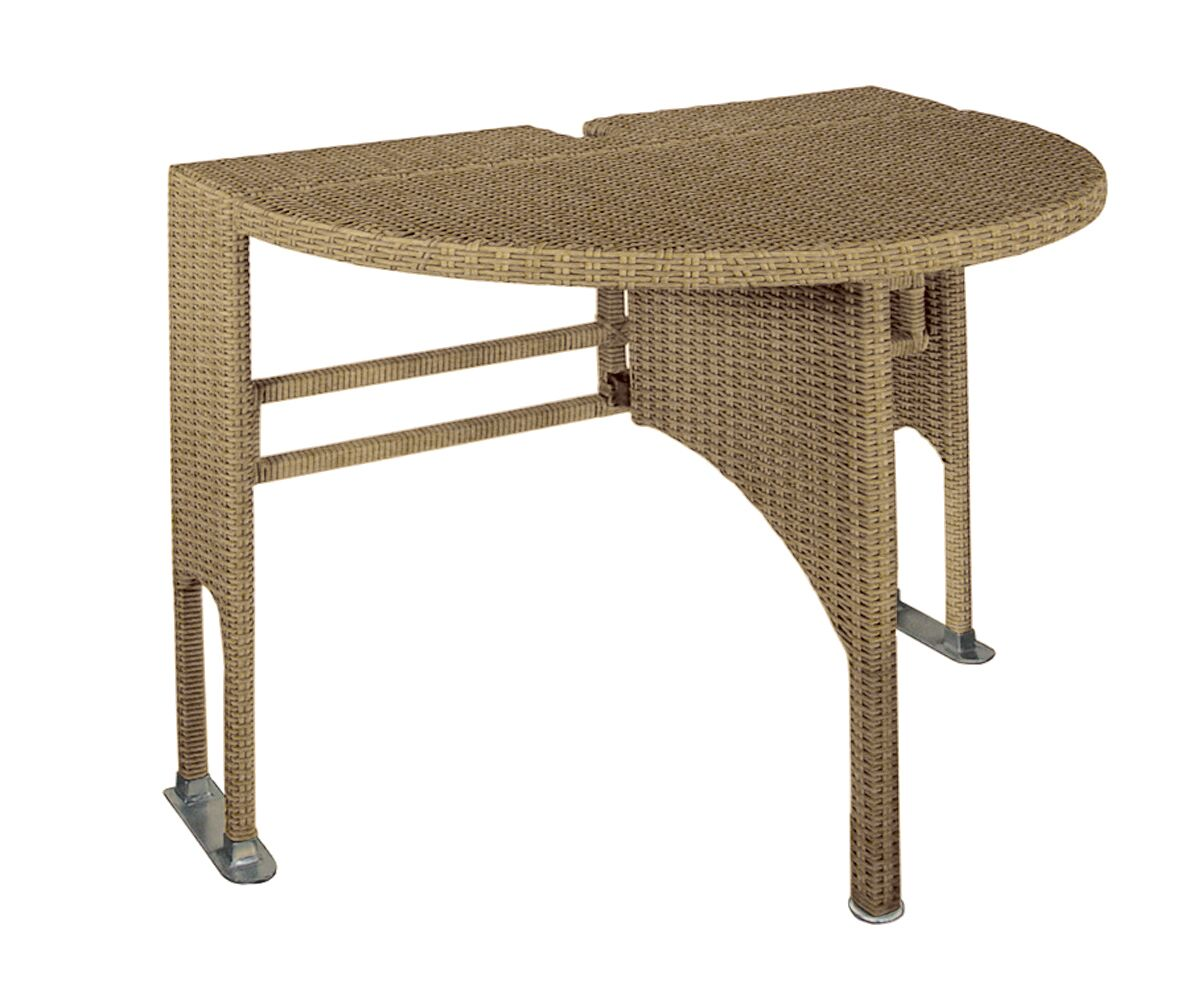 Terrace Mates Genevieve Half Oval Dining Table Finish: Coffee