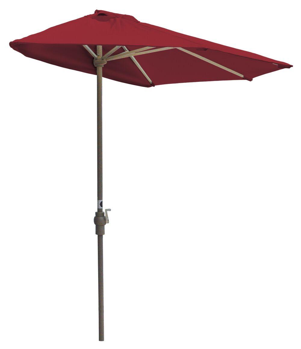 Off-The-Wall Brella 9' Half Market Umbrella Fabric: Red Olefin
