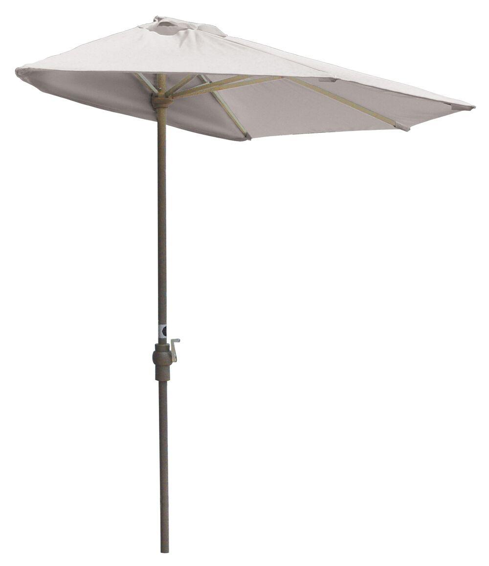 Off-The-Wall 7.5' Market Umbrella Fabric: Natural - Sunbrella