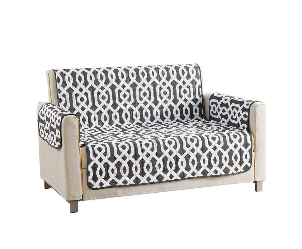 Reversible Waterproof Microfiber T-cushion Armchair Slipcover Upholstery: Gray , Size: 75