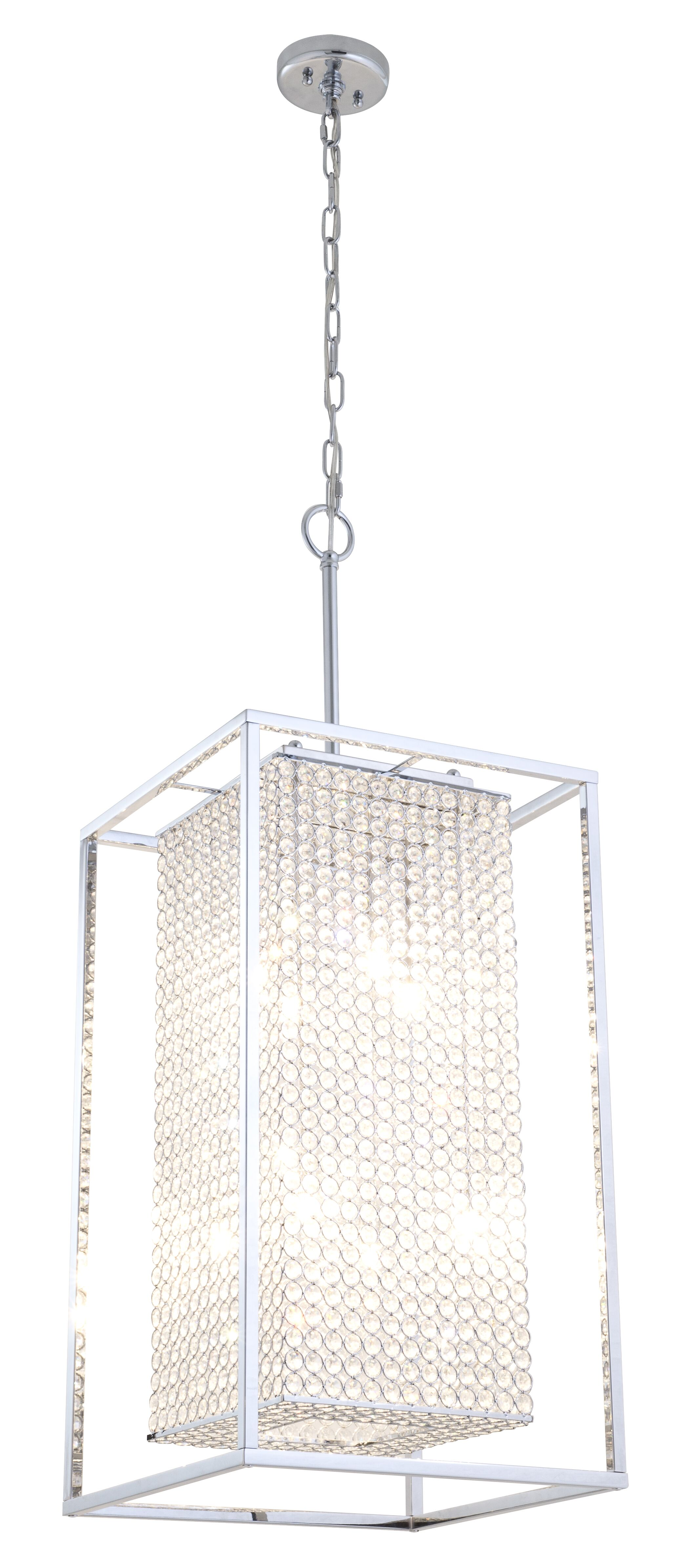 Shadow Box 8-Light Square/Rectangle Chandelier