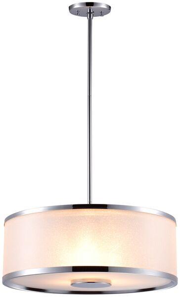 Milan 3-Light Pendant Finish: Chrome, Size: 18.5