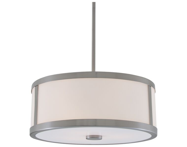 Uptown 3-Light Pendant Finish: Chrome, Size: 16