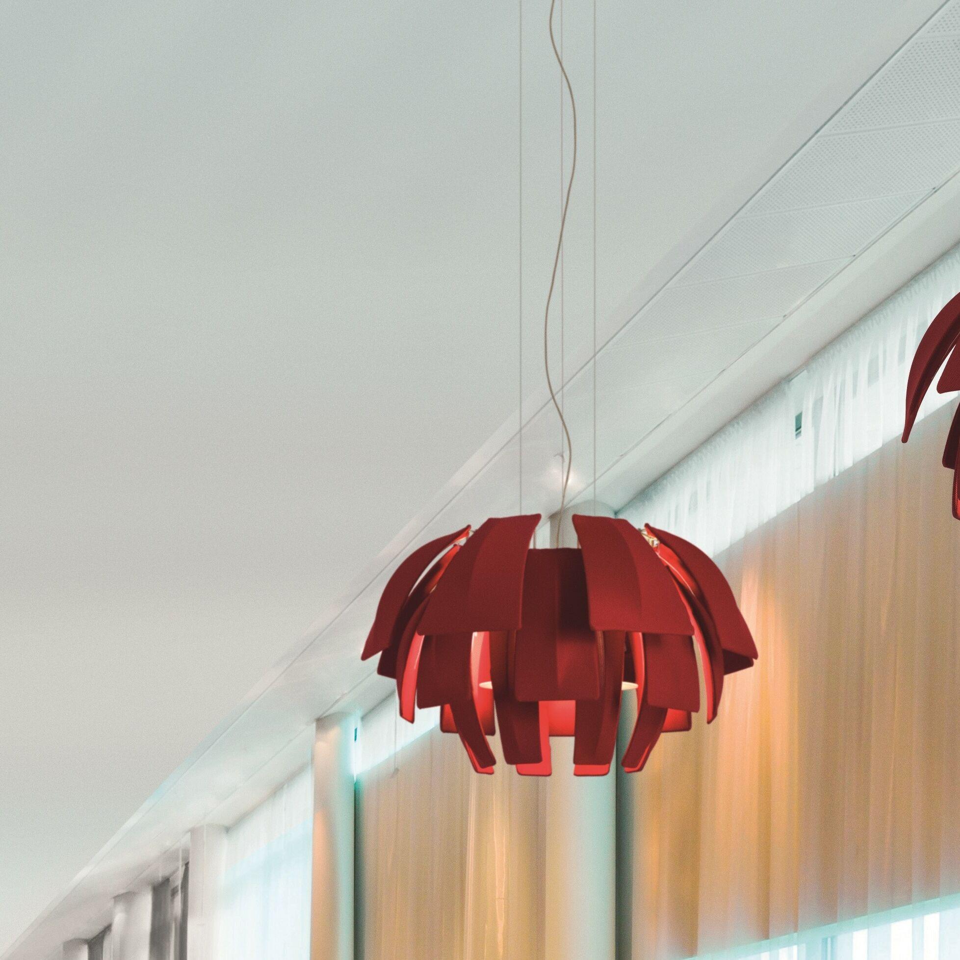Plumage 3-Light Novelty Chandelier Shade Color: Red