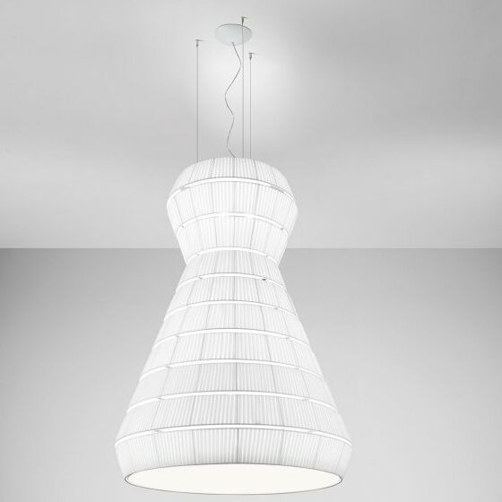 Layer A 9-Light Geometric Chandelier Shade Color: Neutral White