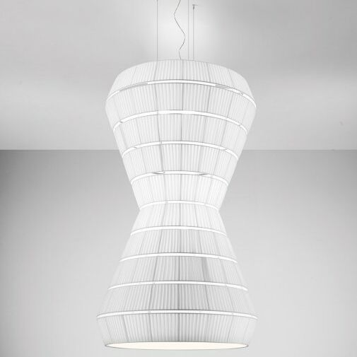 Layer F 9-Light Geometric Chandelier Shade Color: Neutral White