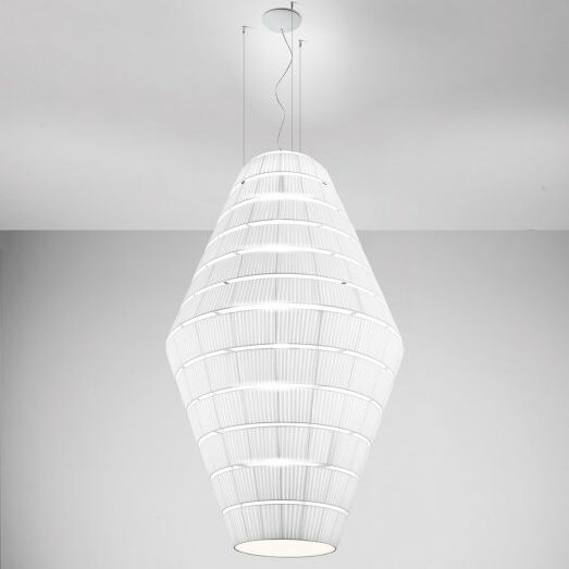 Layer D 9-Light Geometric Chandelier Shade Color: Light Grey