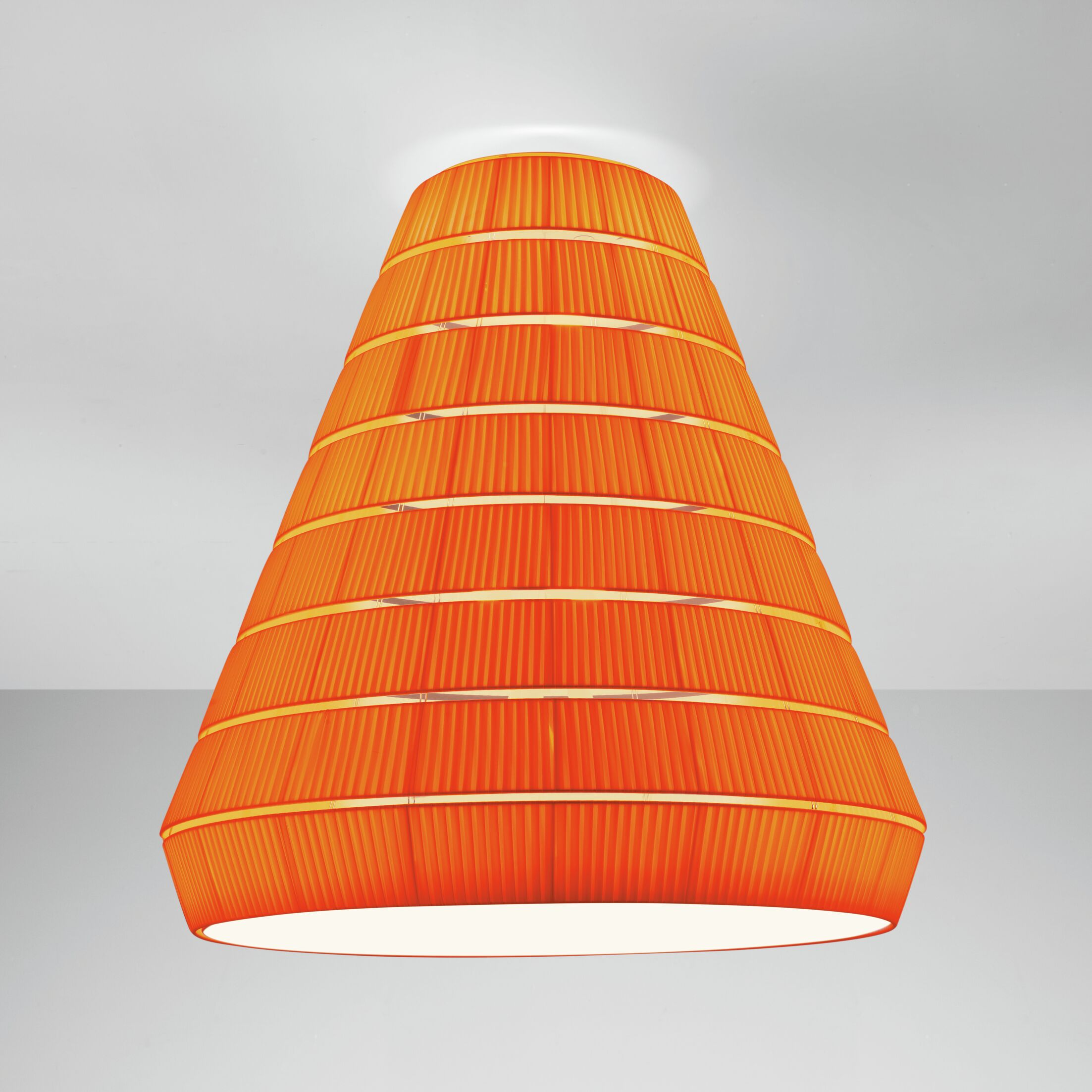 Layers E 9-Light Flush Mount Shade Color: Red