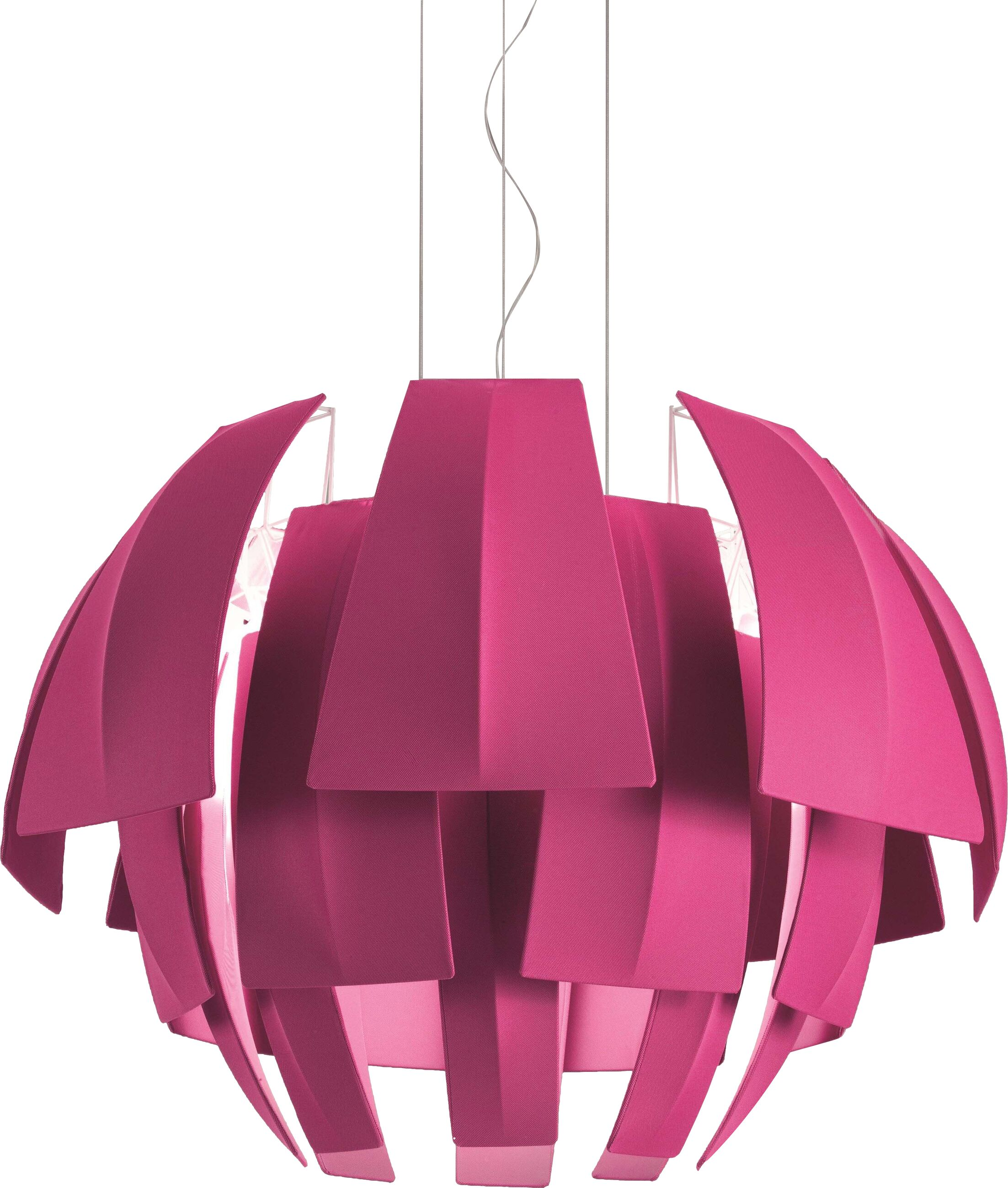 Plumage 6-Light Novelty Chandelier Shade Color: Orange, Size: 44.13