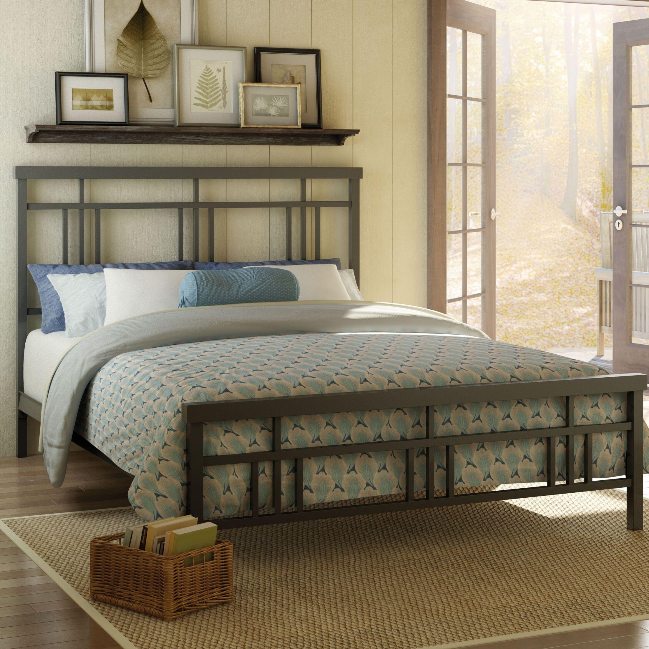 Cottage Platform Bed Size: Full, Color: Matte Dark Grey