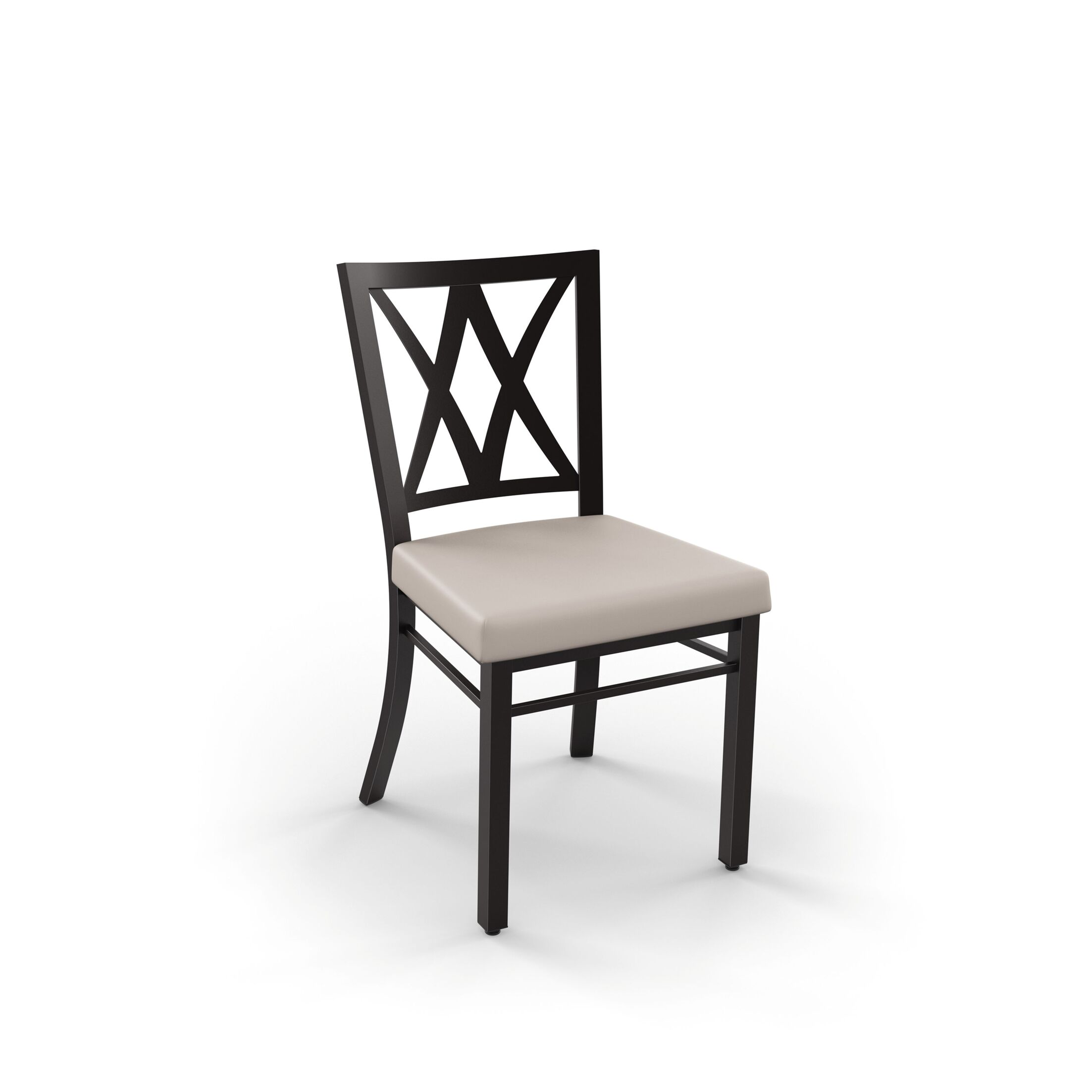 Micheal 7 Piece Extendable Dining Set Table Top Color: Brown, Table Base Color: Black, Chair Color: Black/White