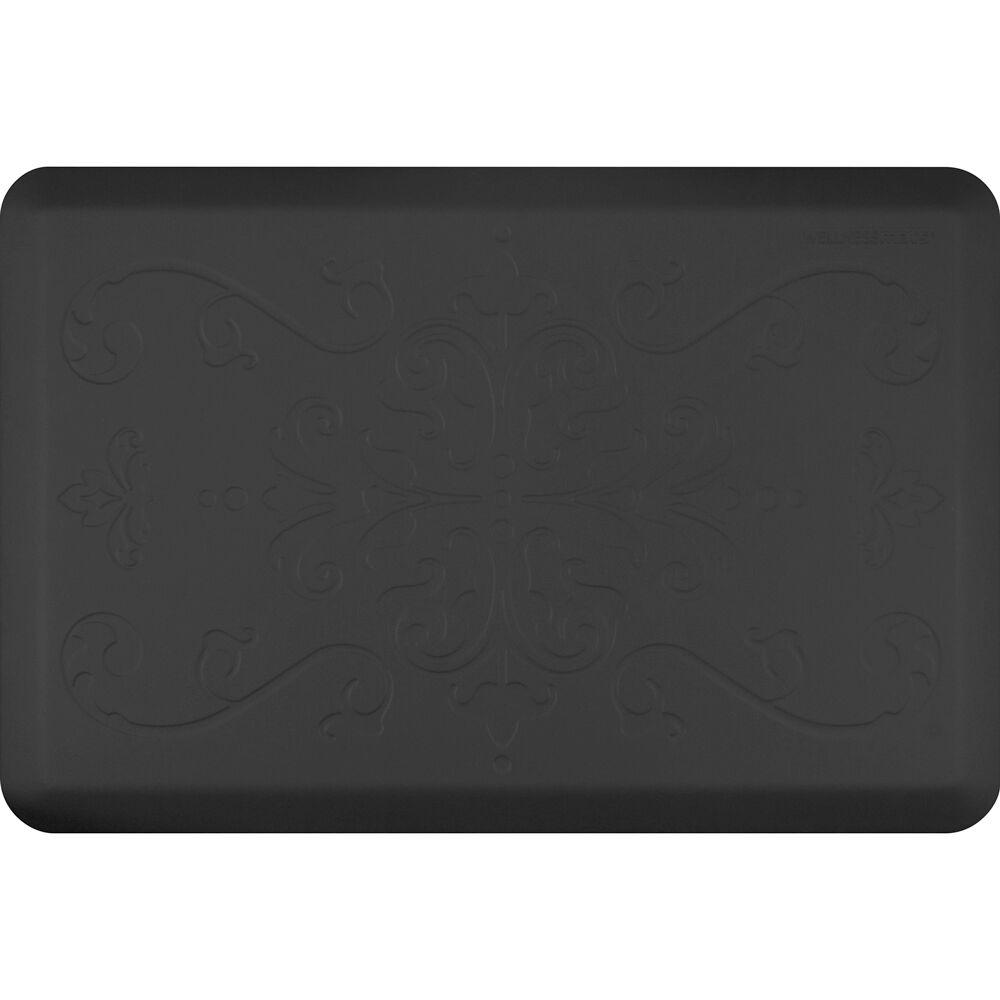 Kitchen Mat Color: Black, Mat Size: Rectangle 2' x 3'
