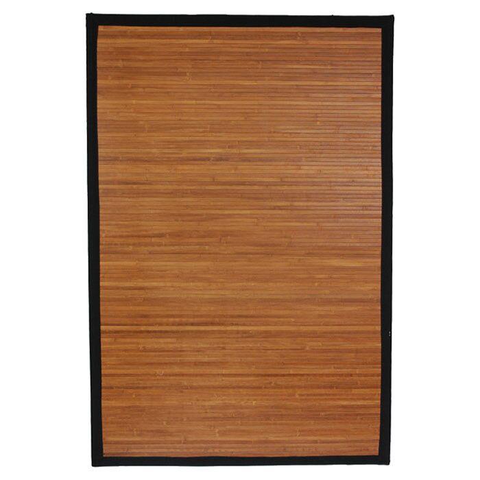 Aurelio Burnt Bamboo Area Rug Rug Size: 5' x 8'