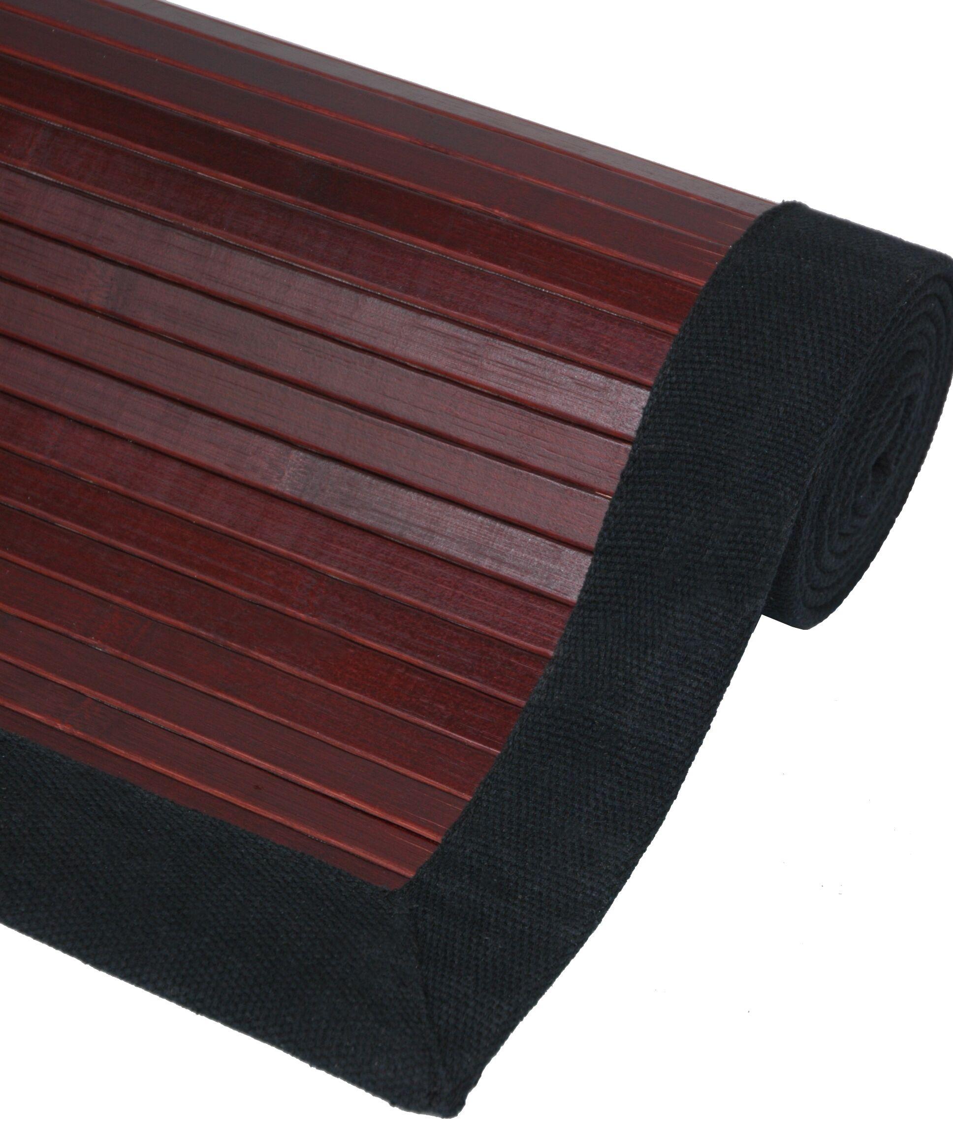 Bamboo Mahogany Area Rug Rug Size: 5' x 8'