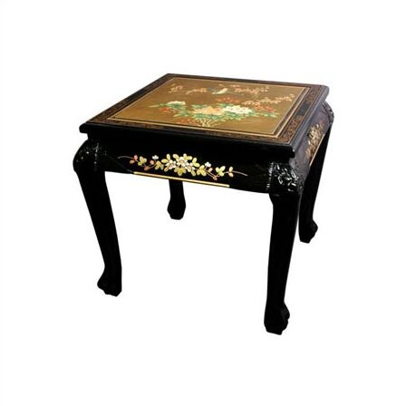 Rosso End Table Color: Gold