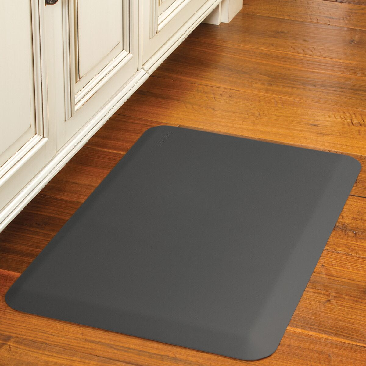 Suede Kitchen Mat Color: Earl Gray, Mat Size: Rectangle 1'8
