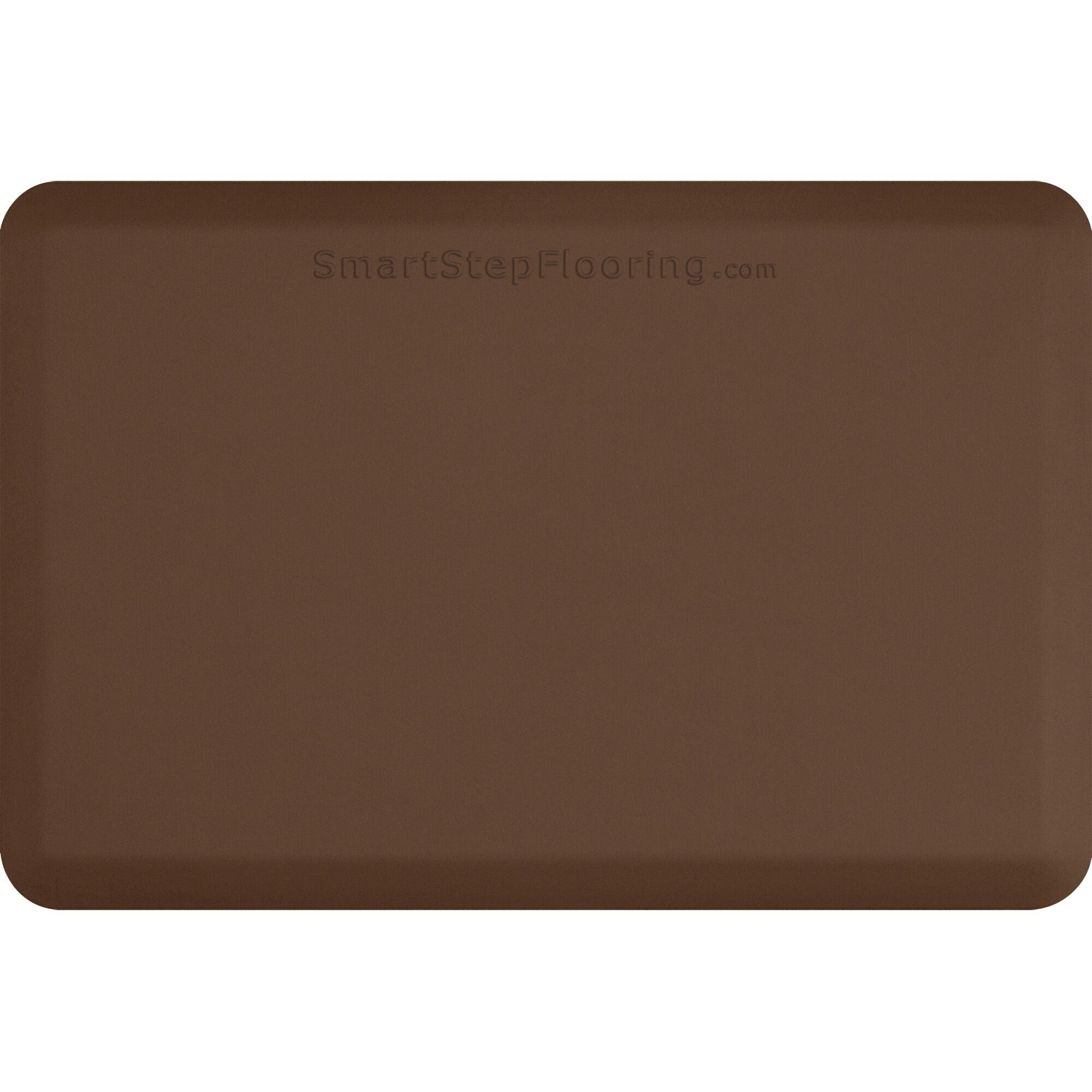 Kitchen Mat Mat Size: Rectangle 6' x 3', Color: Brown