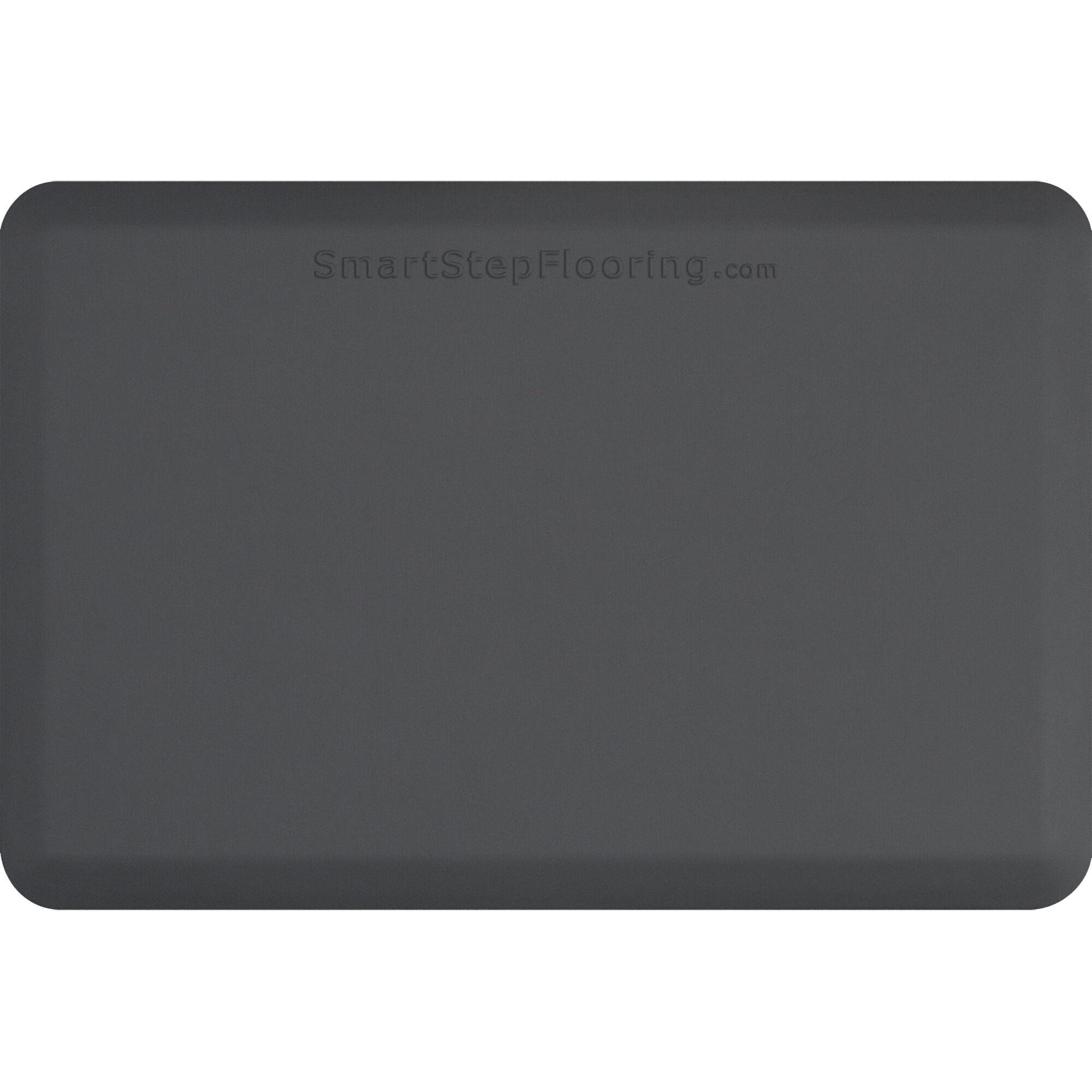 Kitchen Mat Mat Size: Rectangle 6' x 3', Color: Gray