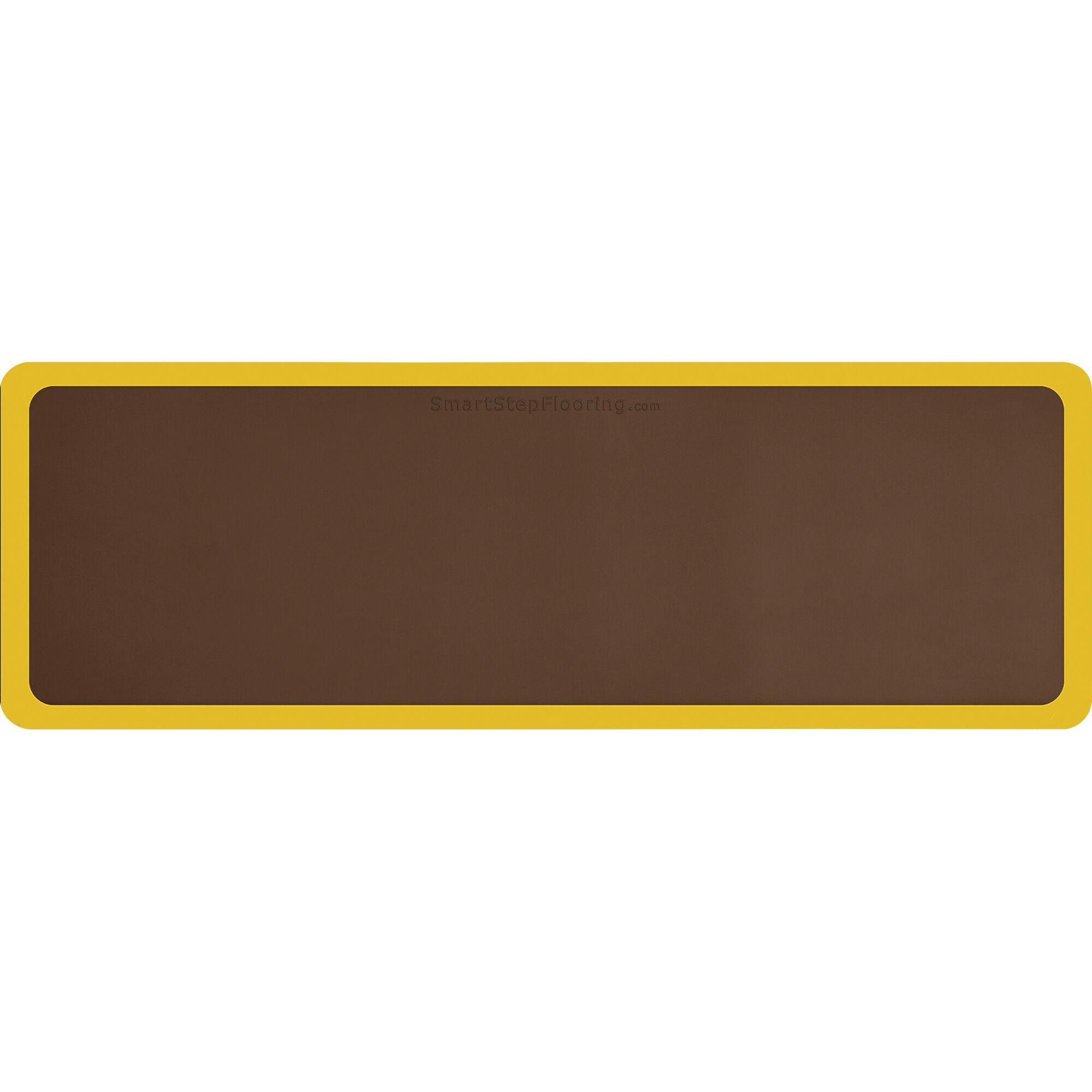 Contour Kitchen Mat Mat Size: Rectangle 6' x 2', Color: Brown/Yellow