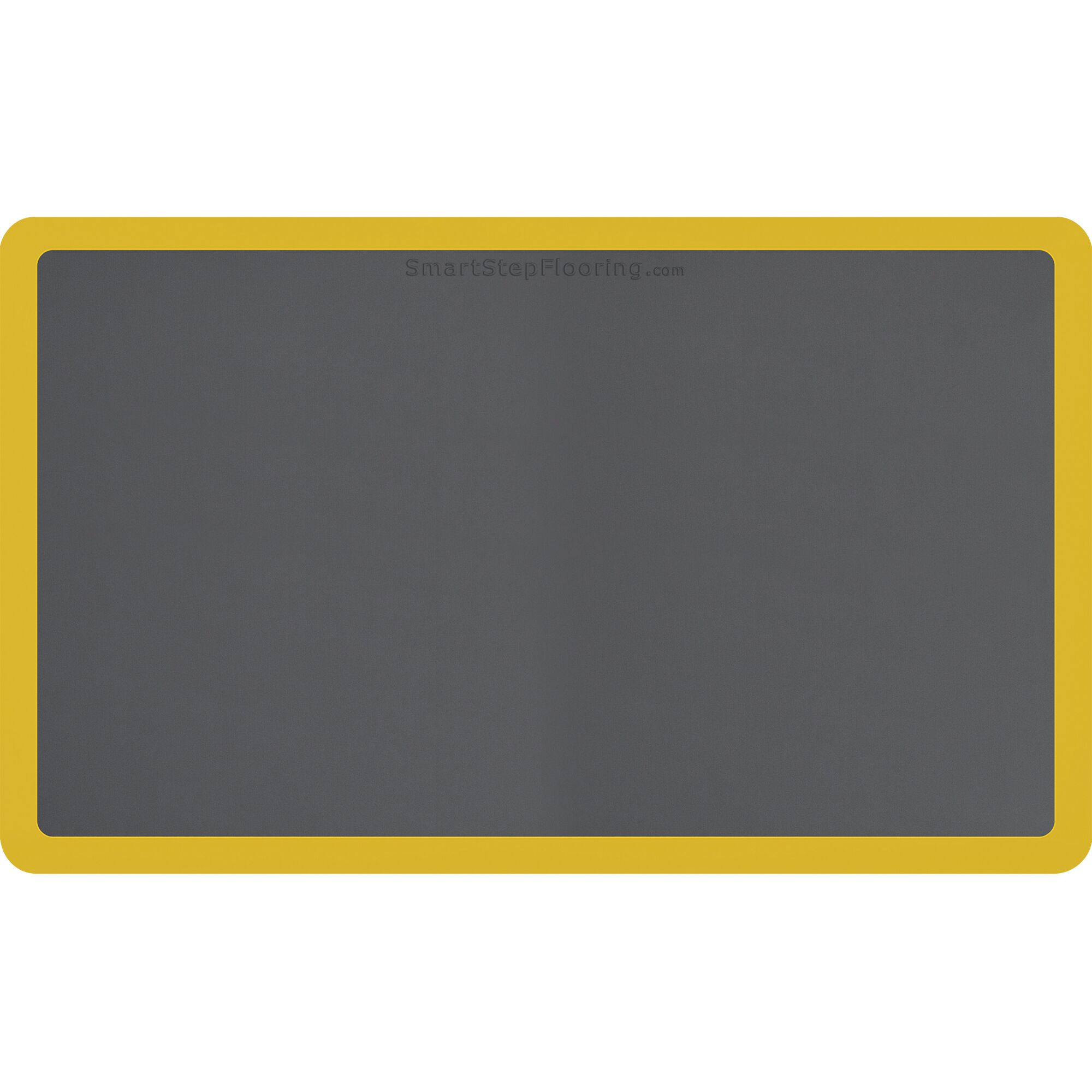 Contour Kitchen Mat Mat Size: Rectangle 5' x 3', Color: Gray/Yellow