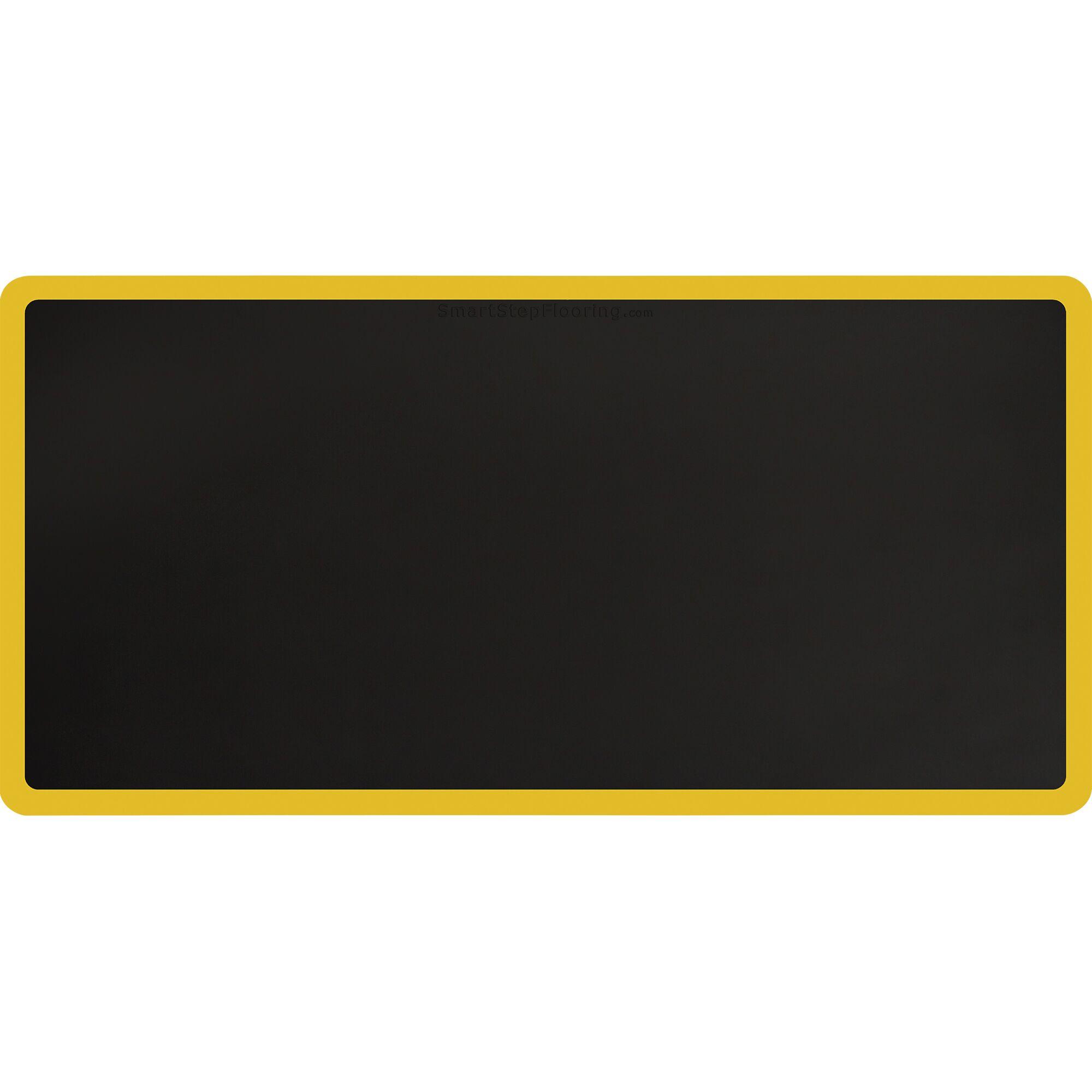 Contour Kitchen Mat Mat Size: Rectangle 6' x 3', Color: Black/Yellow