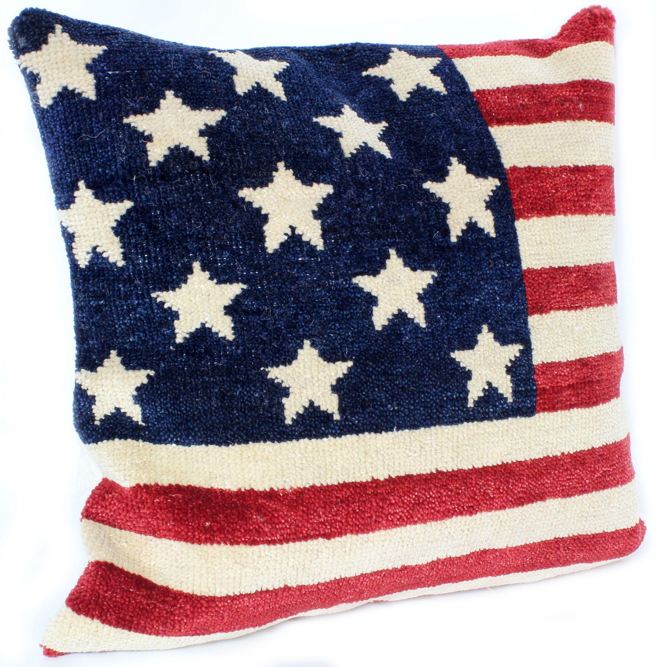 Ridgewood Throw Pillow Size: 18