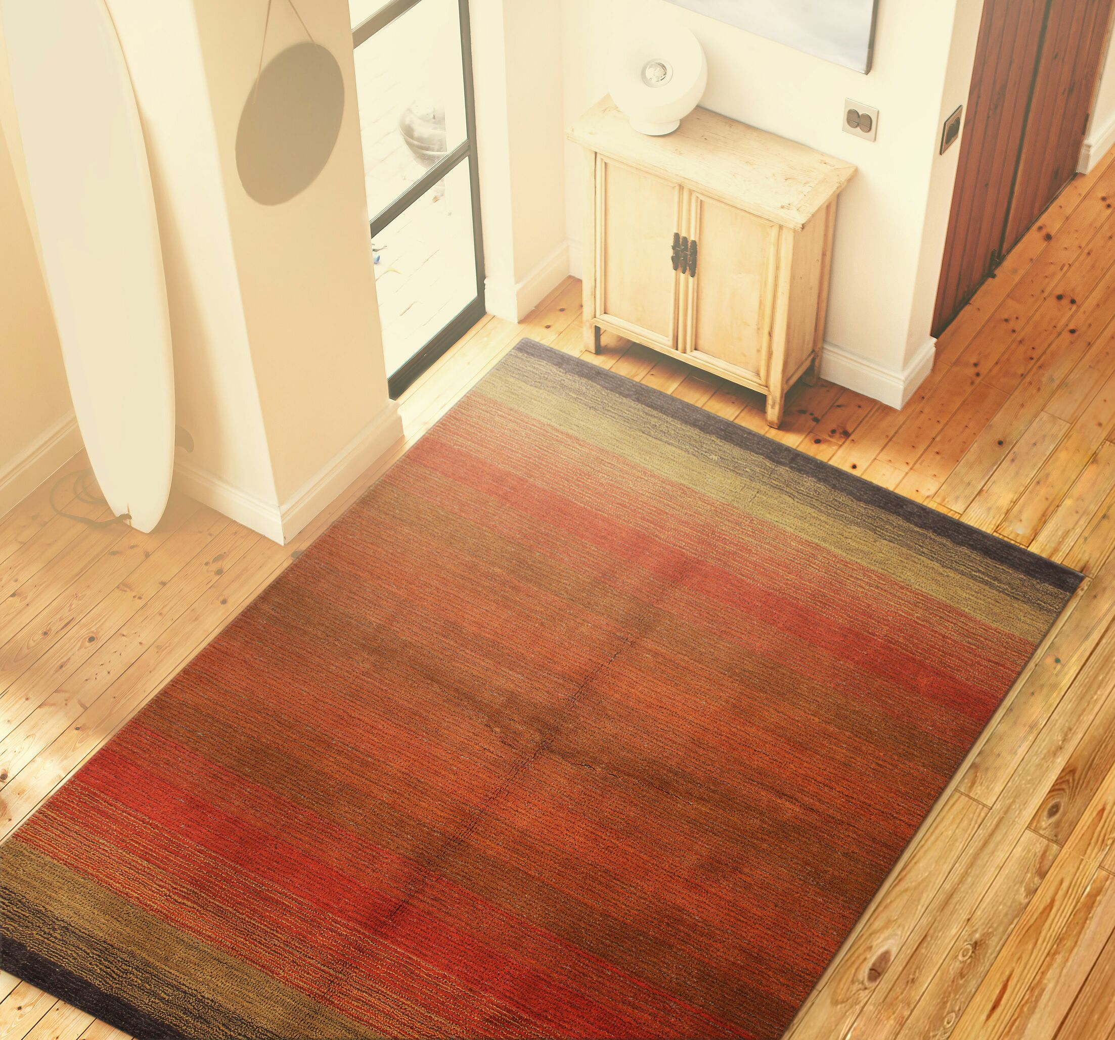 Vauxhall Hand Woven Wool Red Area Rug Rug Size: 7'6
