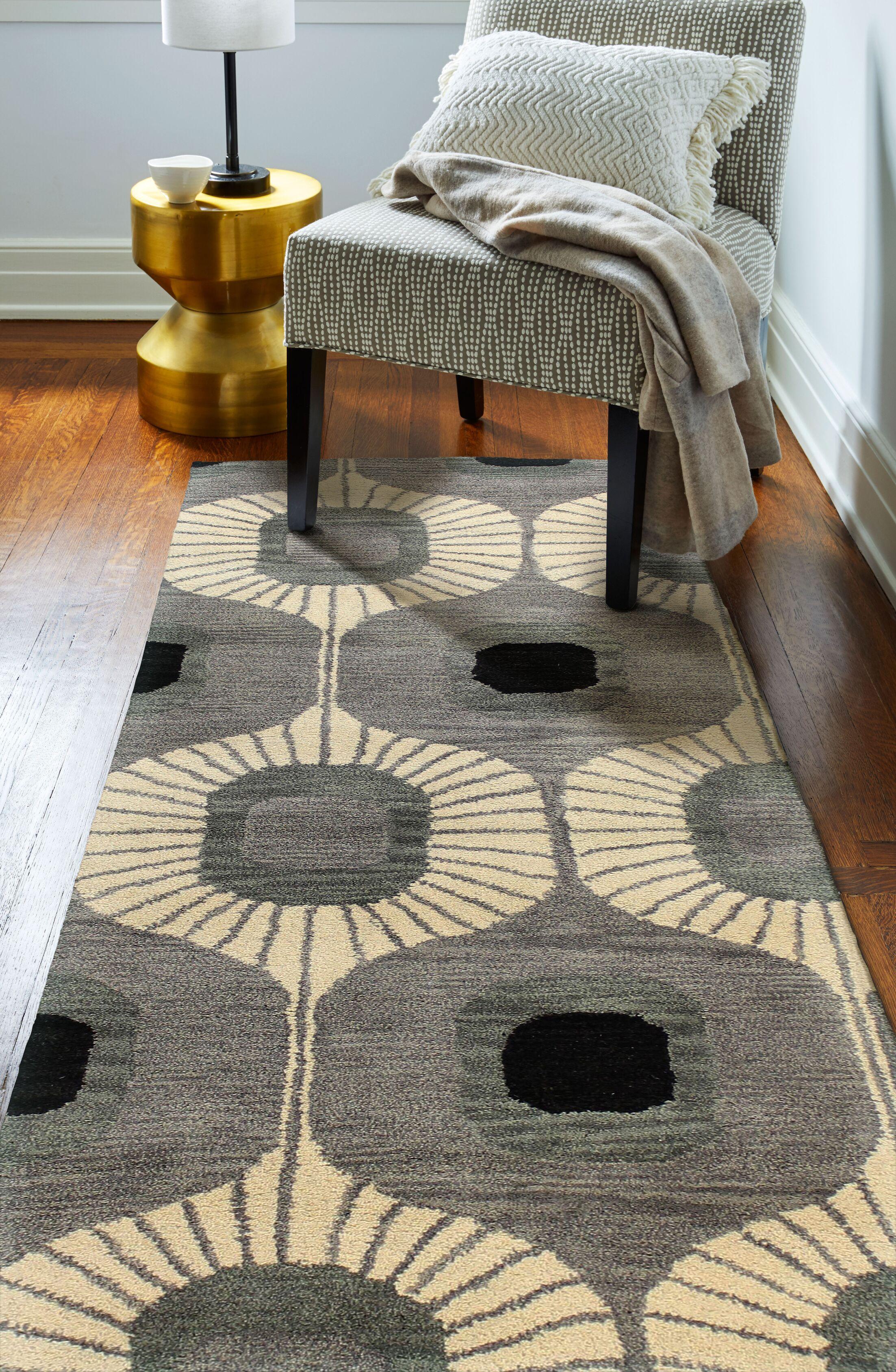 Ashland Wool Grey Area Rug Rug Size: Runner 2'6