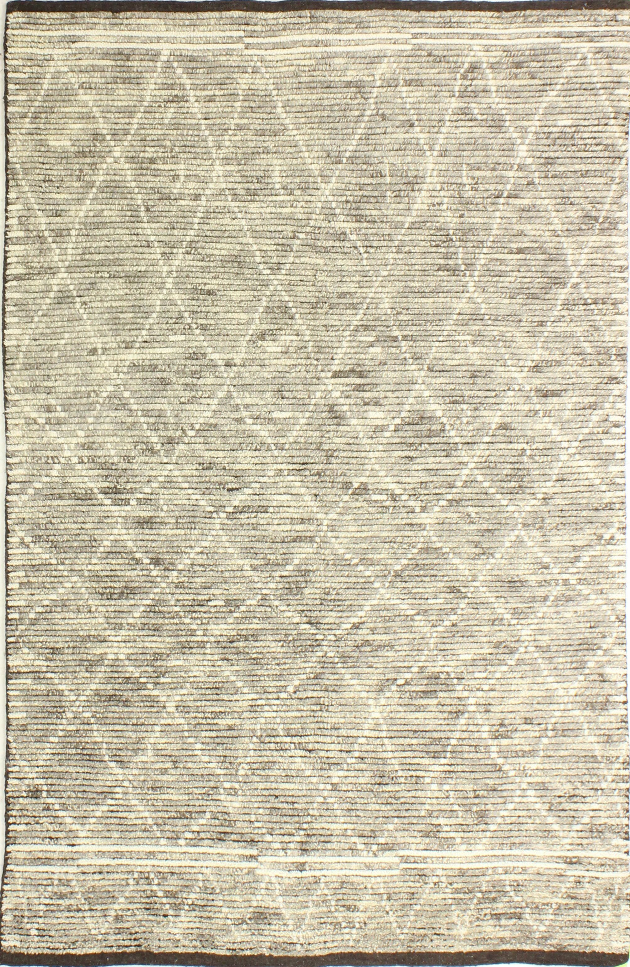 Floressa Hand-Knotted Wool Gray Area Rug Rug Size: 7'6