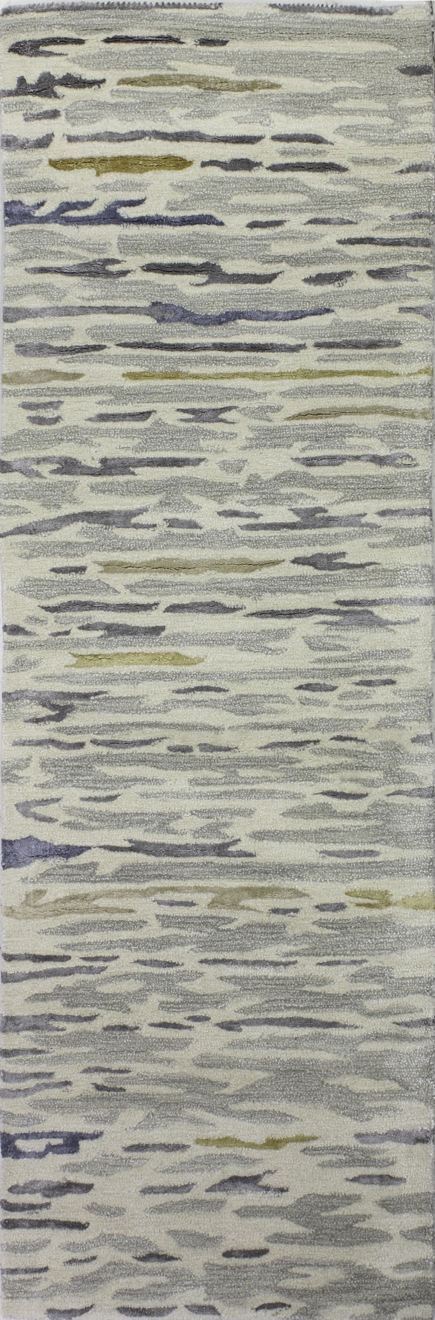 Galle Hand-Tufted Silver Area Rug Rug Size: Runner 2'6