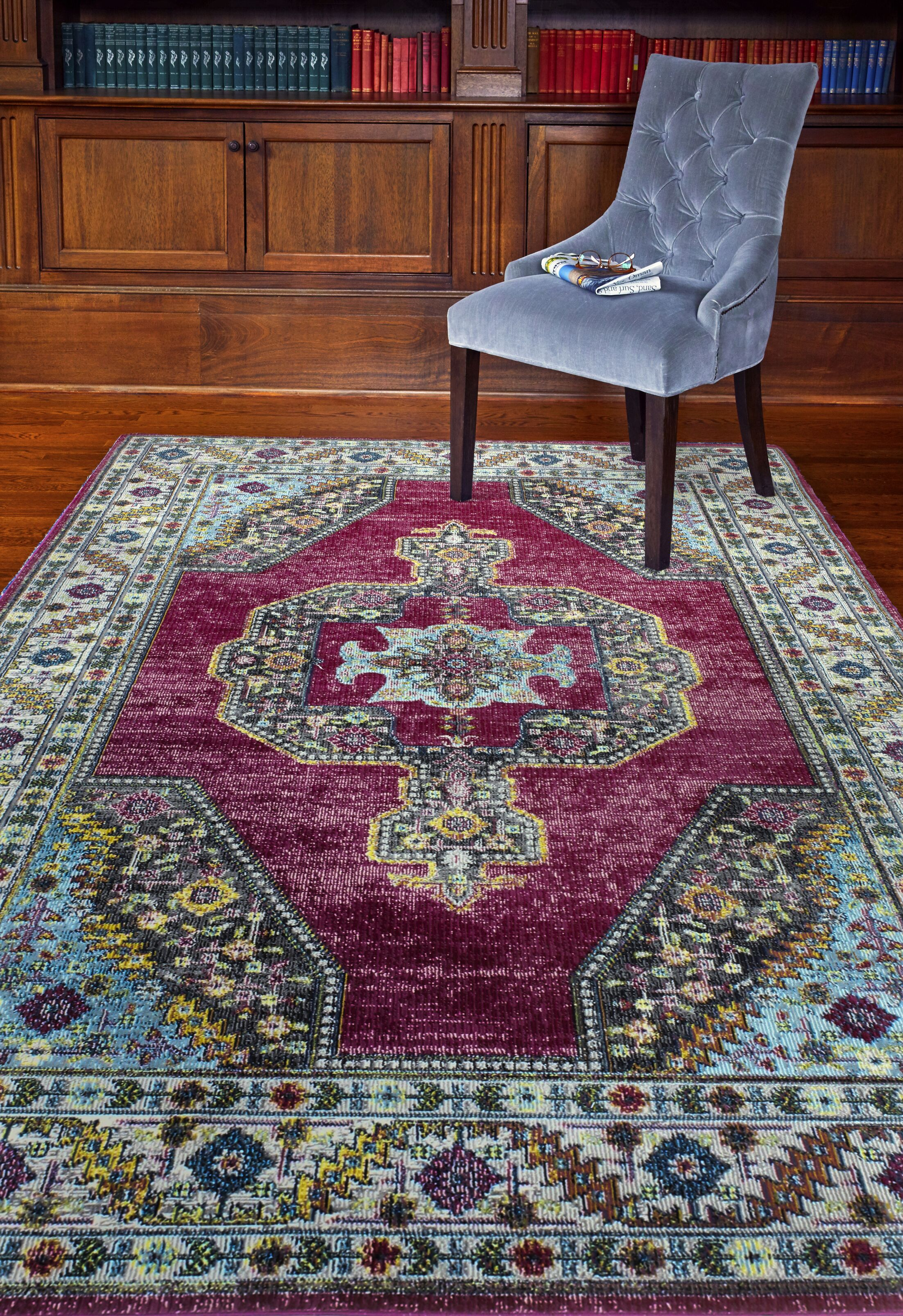 Fidela Fuchsia Area Rug Rug Size: Rectangle 8'6