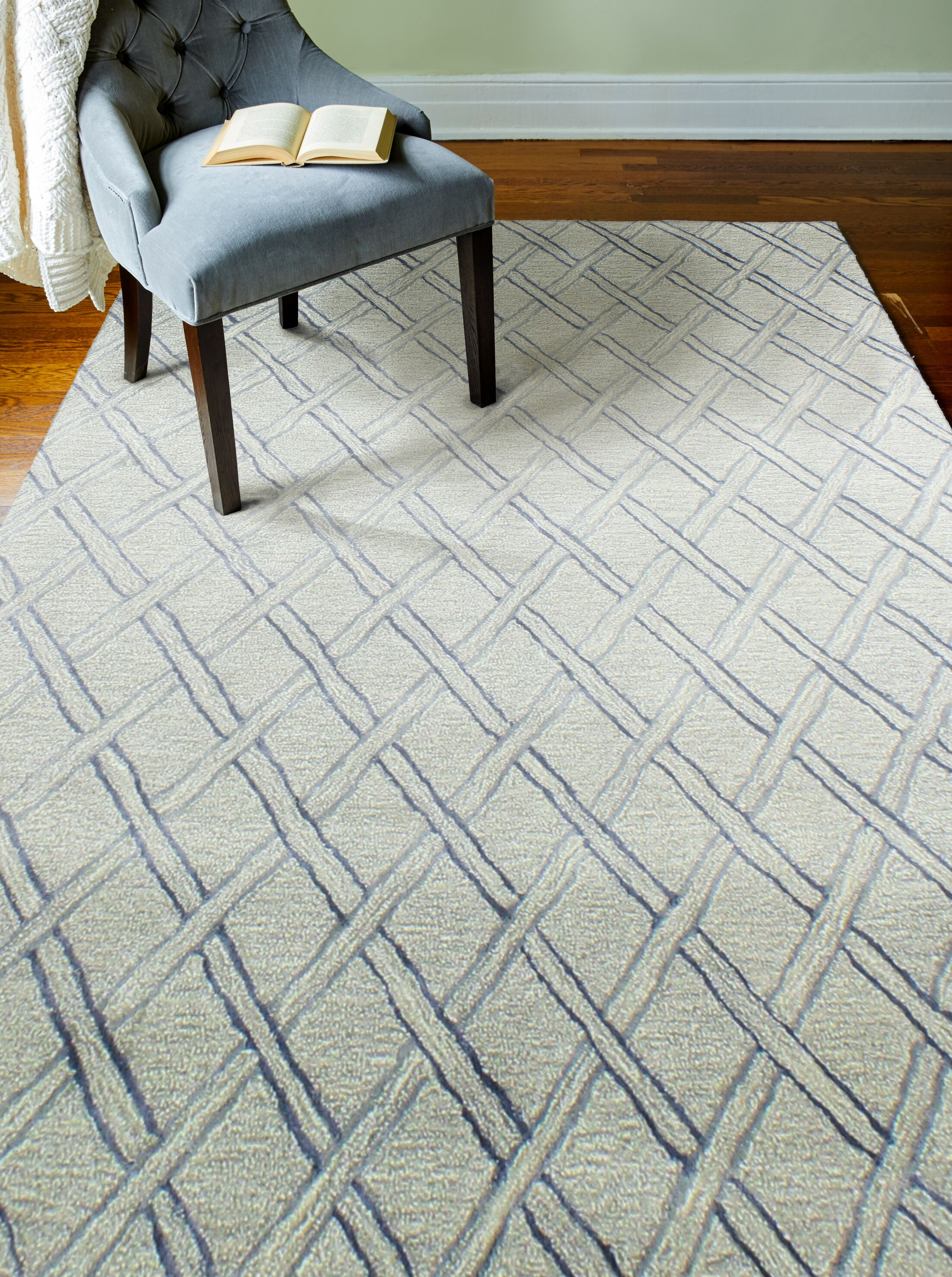 Jemarcus Hand-Tufted Silver Area Rug Rug Size: Rectangle 7'6
