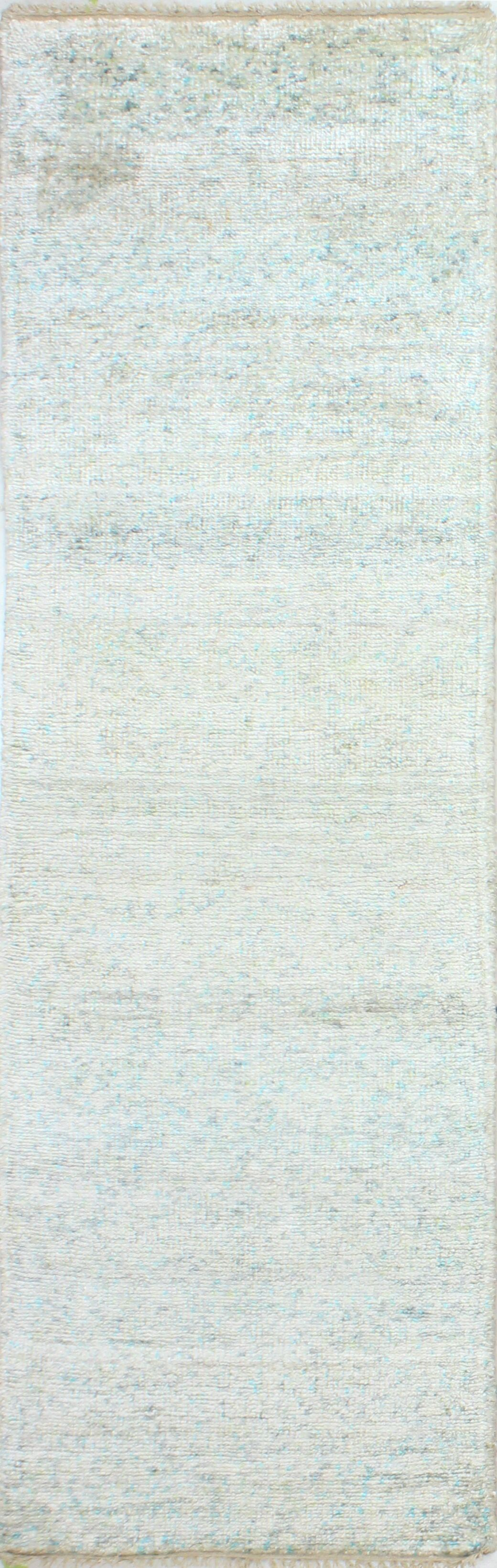 Plunkett Hand Knotted Cotton Cream Area Rug Size: Runner 2'6