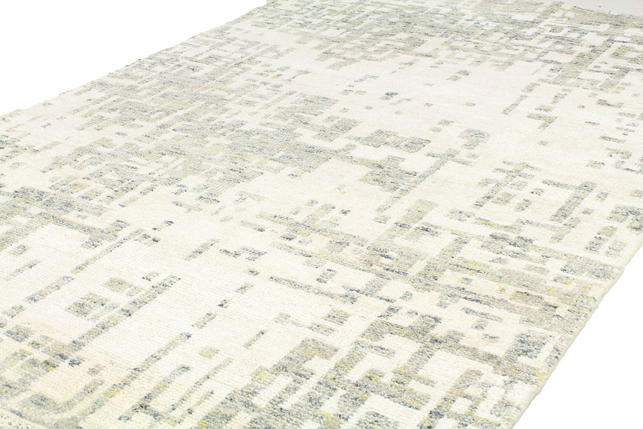 Jagtap Hand Knotted Cotton Ivory/Gray Area Rug Size: Rectangle 3'6