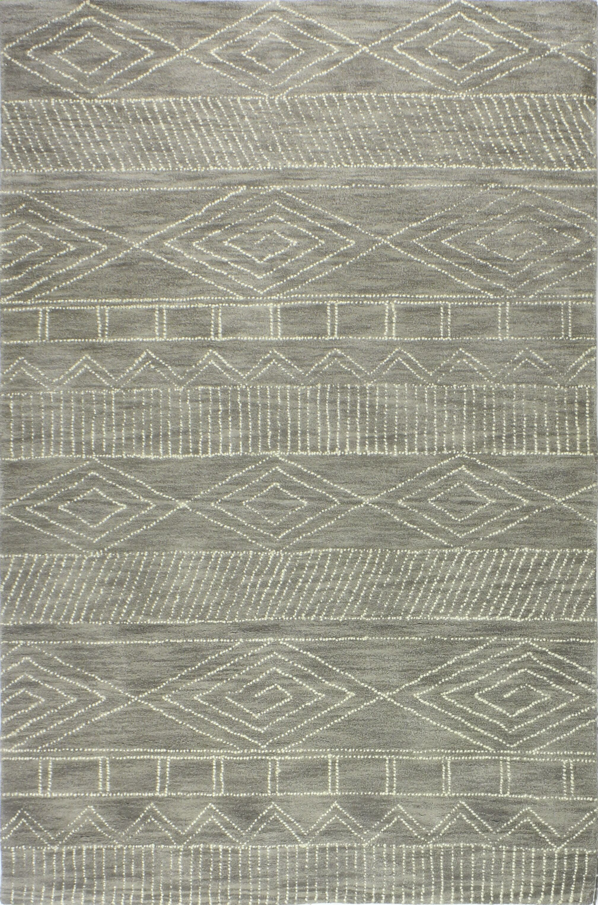 Drihmi Hand Tufted Wool Taupe Area Rug Size: Rectangle 3'6