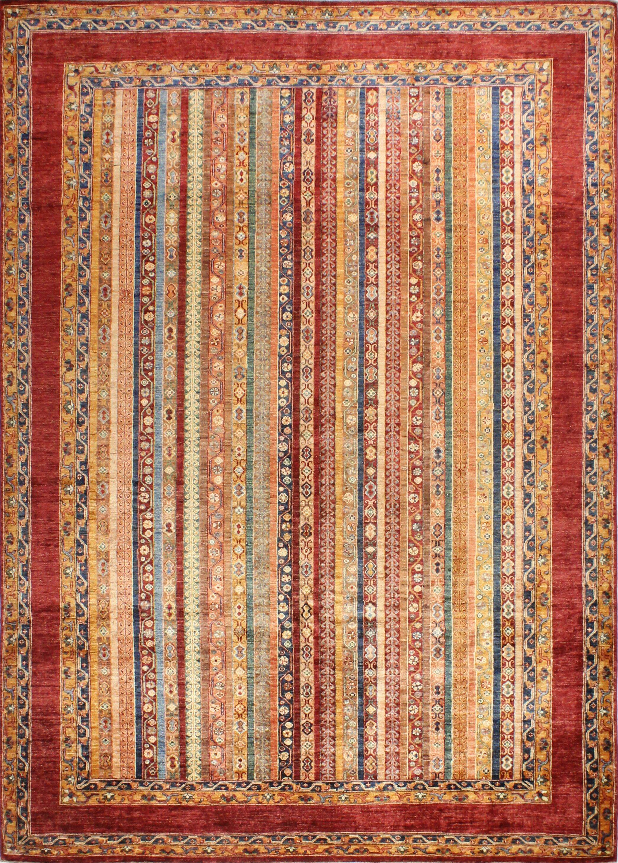 One-of-a-Kind Hartness Hand Woven Wool Rust Area Rug