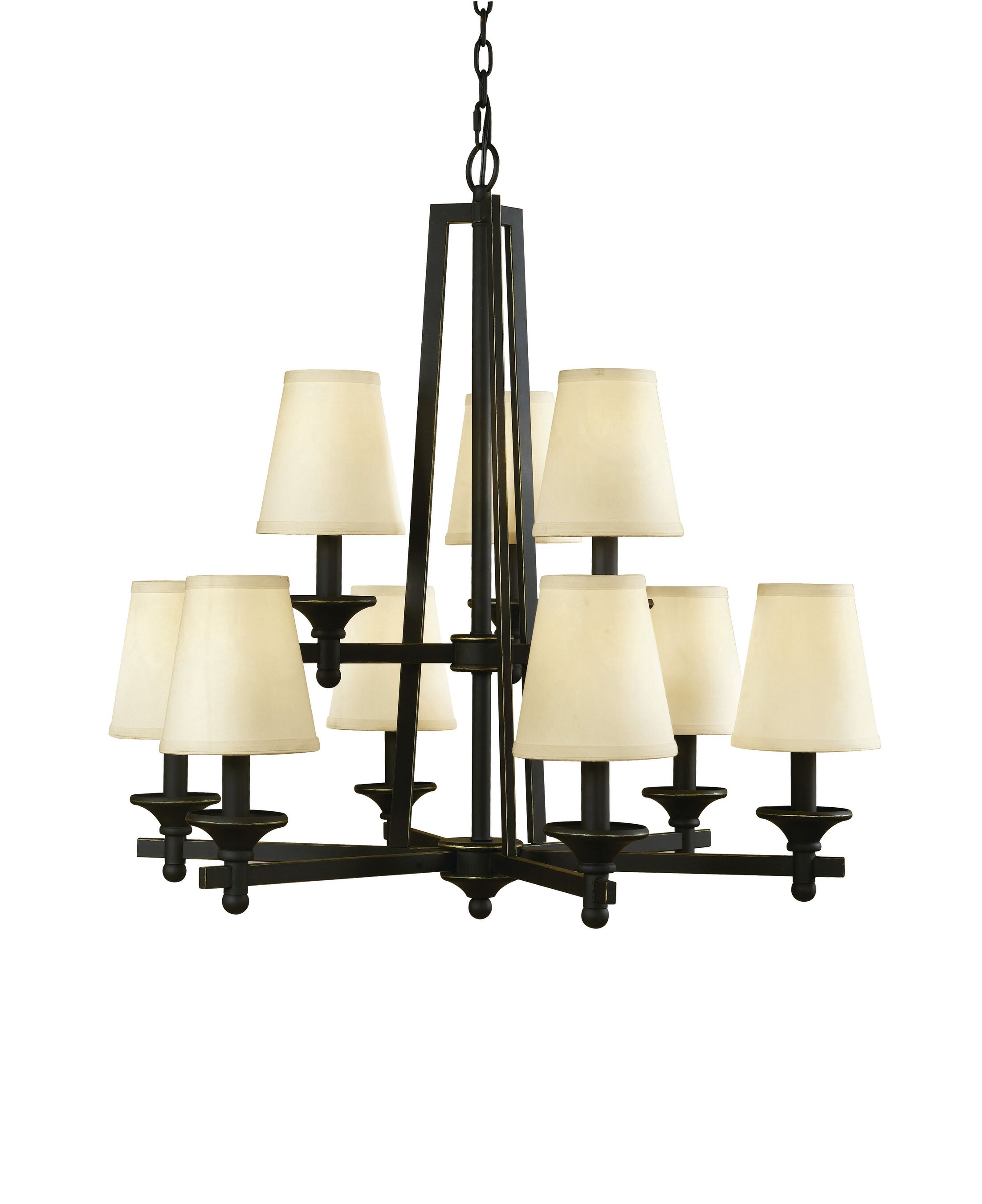 Baxter 9-Light Shaded Chandelier