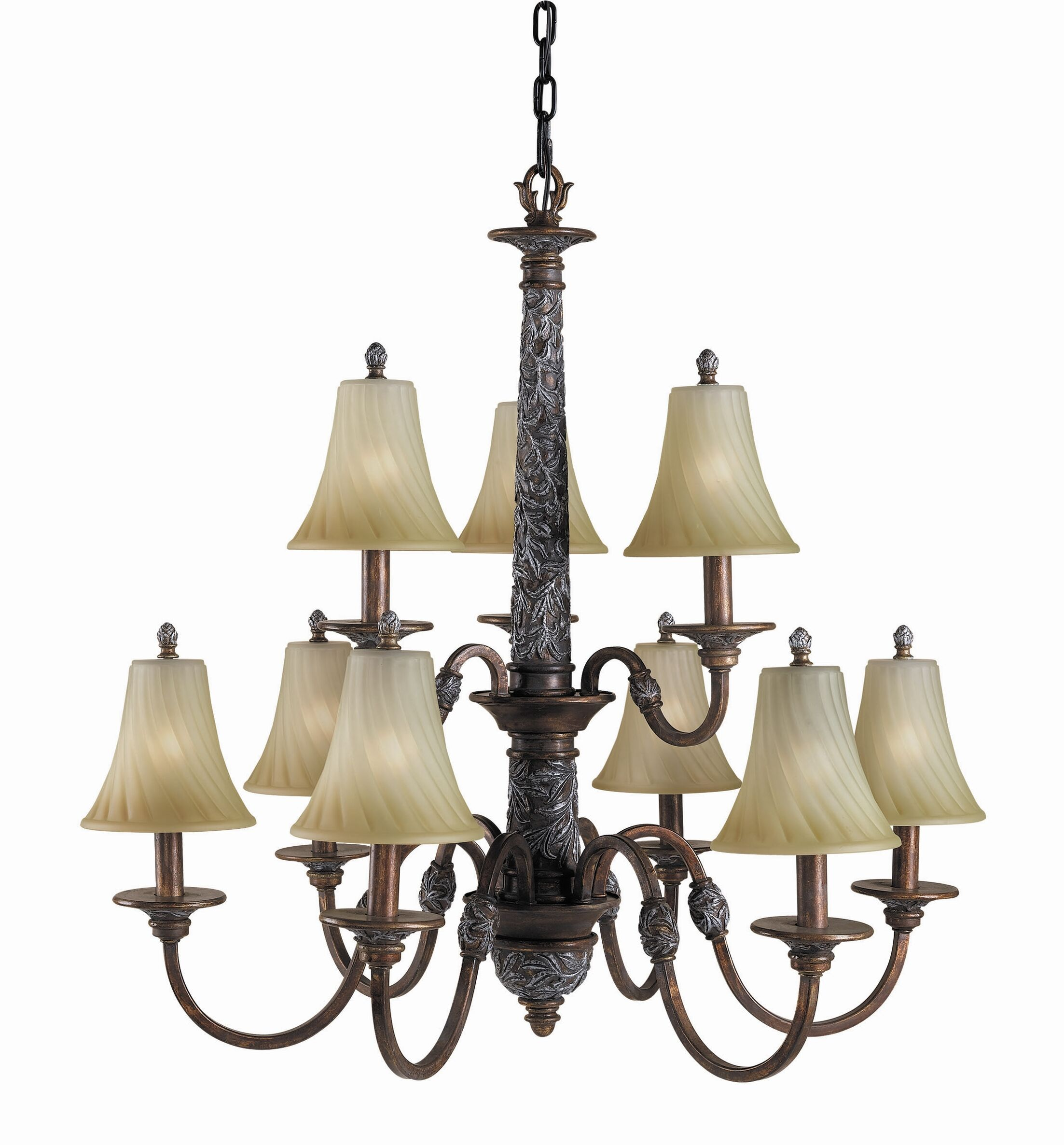 Vergennes 9-Light Shaded Chandelier