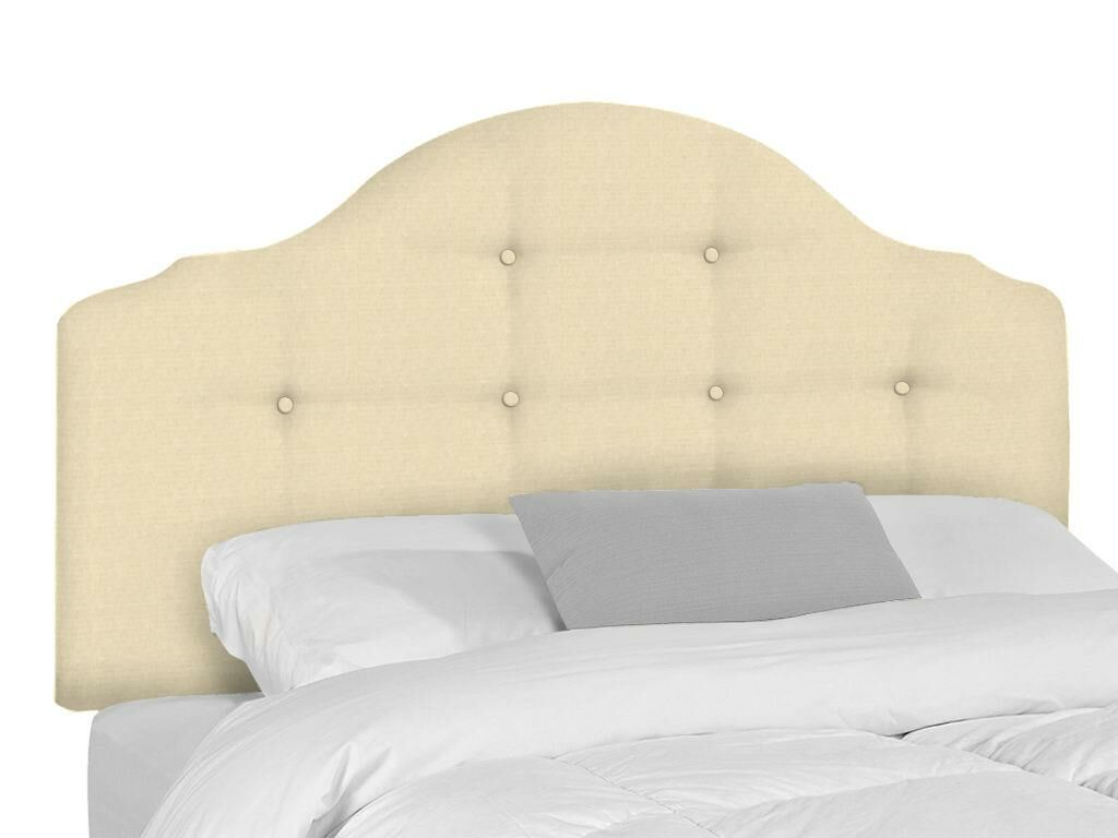 Stephanie Upholstered Panel Headboard Upholstery: Seagull, Size: Twin