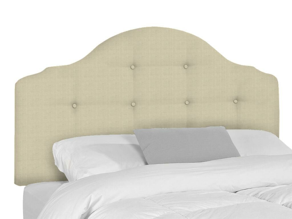 Stephanie Upholstered Panel Headboard Upholstery: Flax, Size: Queen