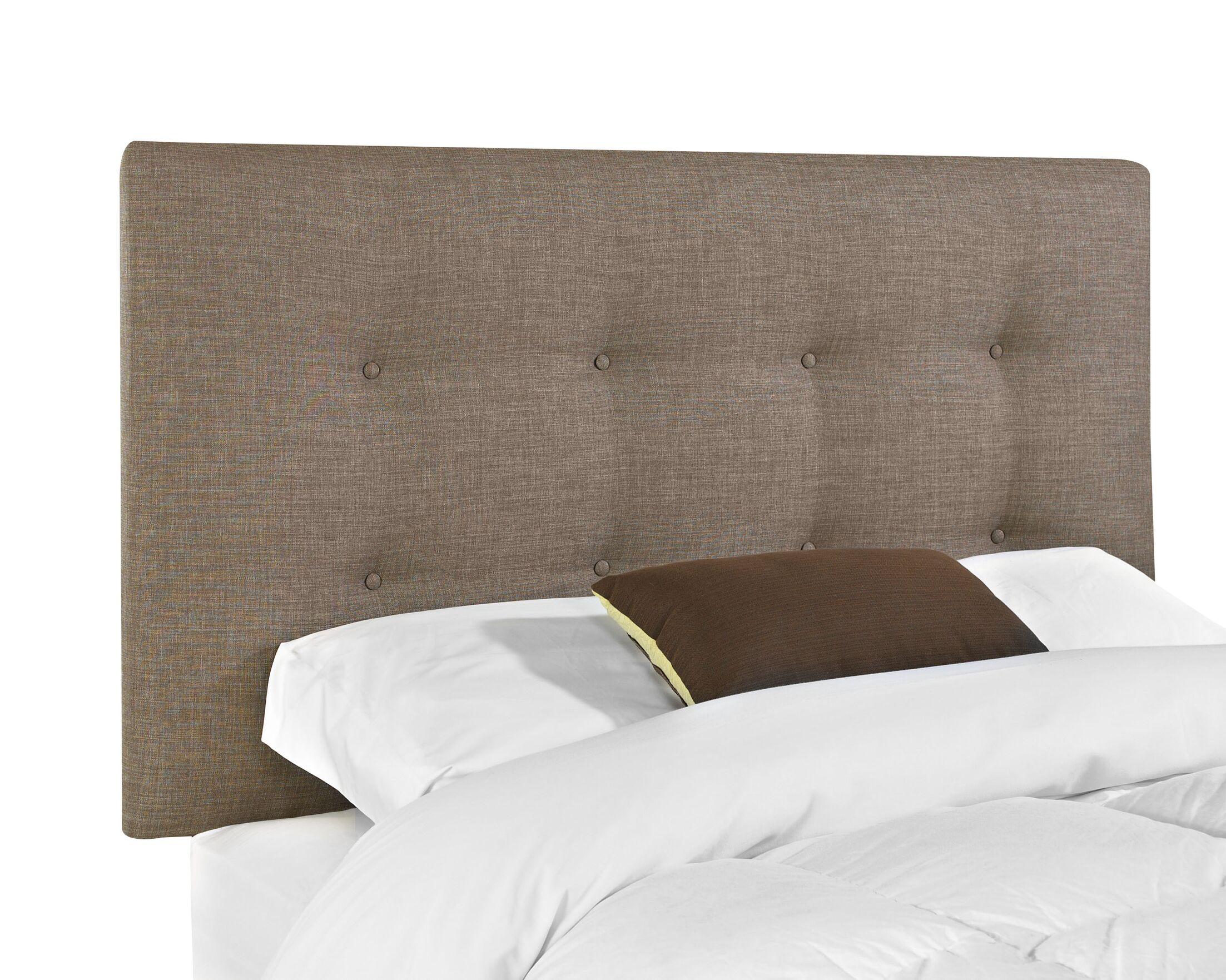 Belfast Upholstered Panel Headboard Upholstery: Stone, Size: King
