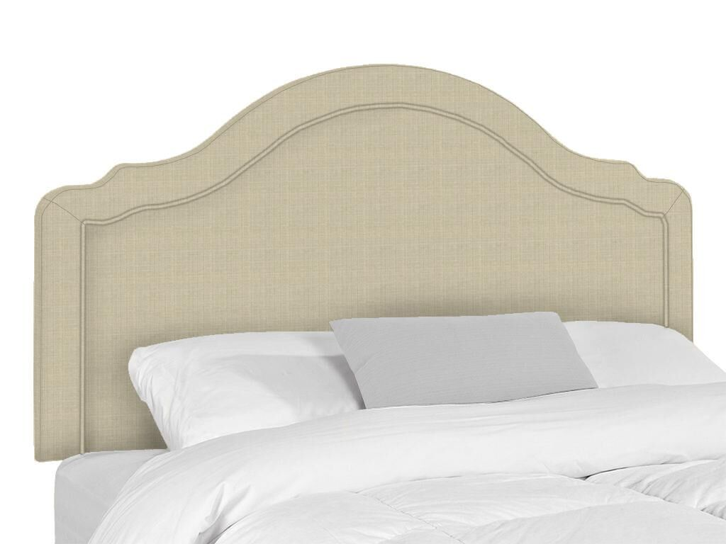 Mill Upholstered Panel Headboard Upholstery: Flax, Size: Queen