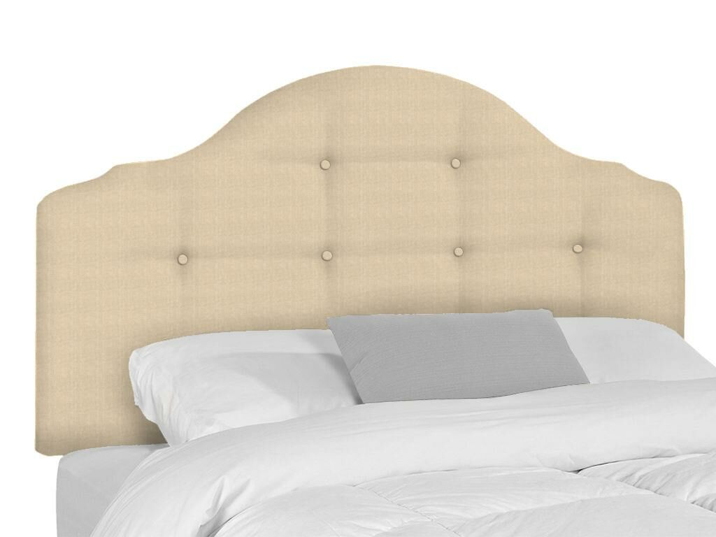 Stephanie Upholstered Panel Headboard Upholstery: Beige, Size: Queen