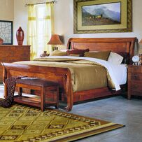 Baxter Sleigh Bed Size: King