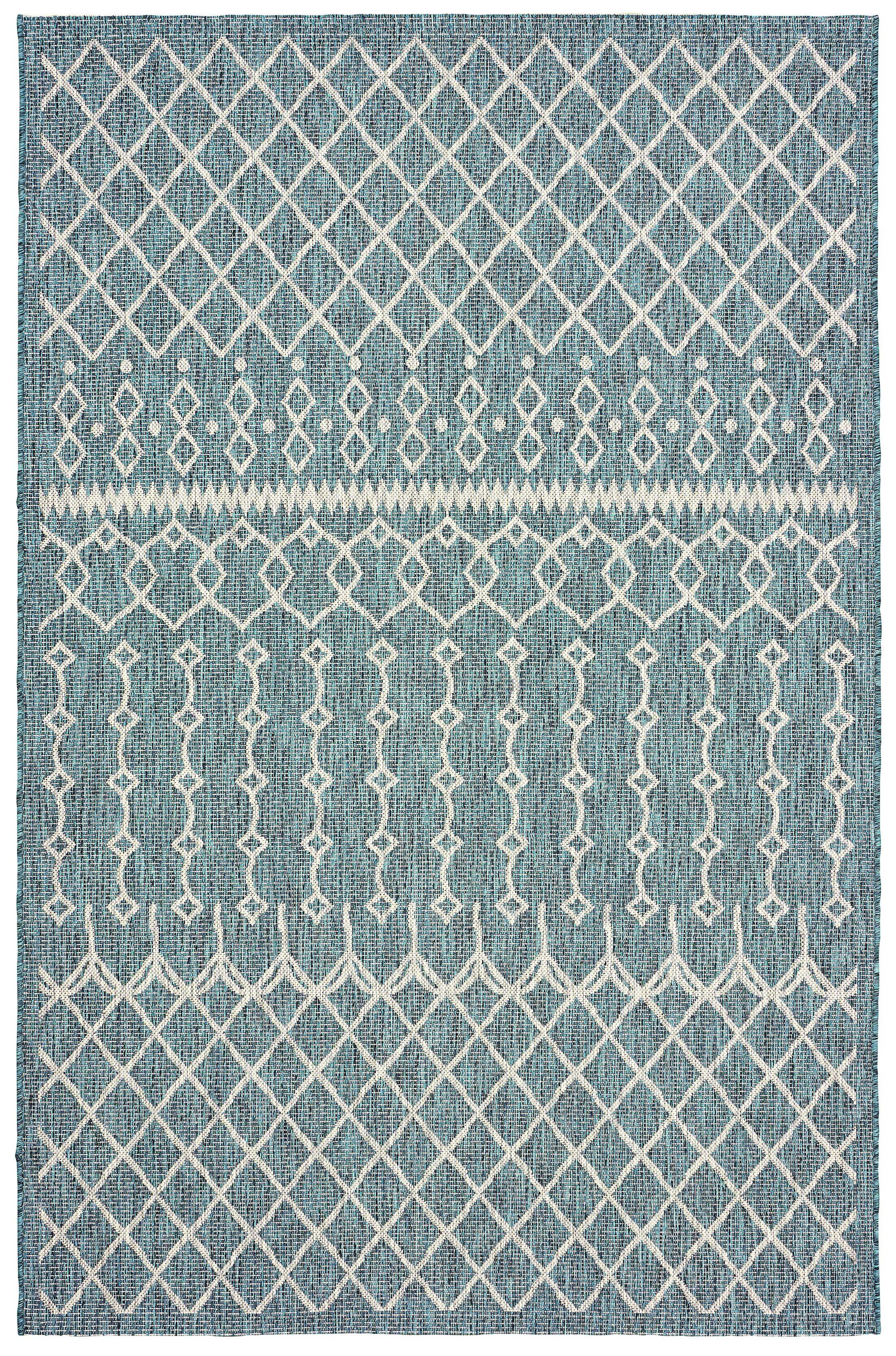 Dilip Blue Indoor/Outdoor Area Rug Rug Size: 8' x 10'