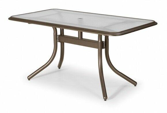 Glass Top Rectangular Dining Table