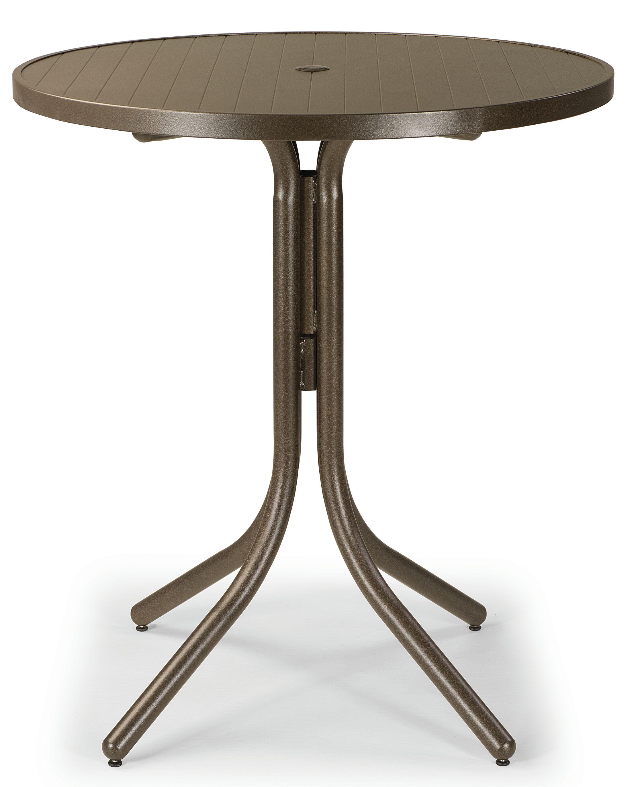 Aluminum Slat Round Chat Table