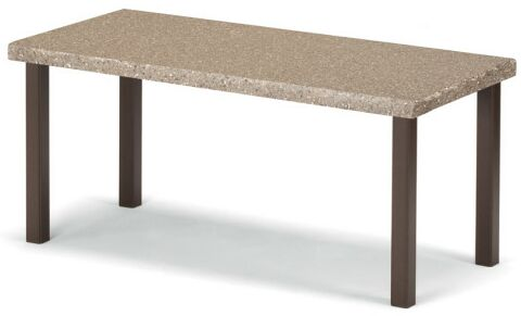 Synthestone Tables Aluminum Coffee Table Base Finish: Textured Aged Bronze, Top Finish: Butternut Toffee